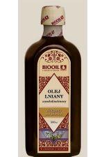Olej lniany tłoczony na zimno nieoczyszczony (budwigowy) 500 ml