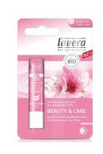 Lavera balsam do ust Beauty&Care Rose z bio-mlekiem migdałowym i bio-masłem kakaowym 4,5 g