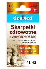 Skarpetki zdrowotne z wełną merynosową i srebrem MEDIC DEO SILVERWOOL