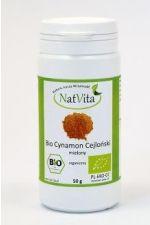 BIO cynamon cejloński (Cinnamomum verum), cynamon prawdziwy ekologiczny - 50 g mielony NATVITA