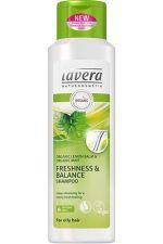 Lavera odświeżający szampon do włosów przetłuszczających się z wyciągiem z bio-cytryny i bio-miętą 250 ml