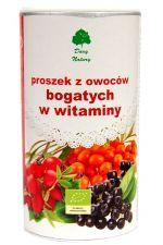 Owocowy proszek witaminowy BIO (dzika róża, rokitnik, aronia) - 200 g