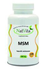 MSM siarka organiczna (metylosulfonylometan) kapsułki wegetariańskie 100 szt.