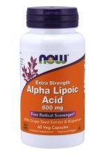 ALA - Kwas Alfa Liponowy 600 mg + Ekstrakt z Winogron + Bioperyna (60 kaps.)