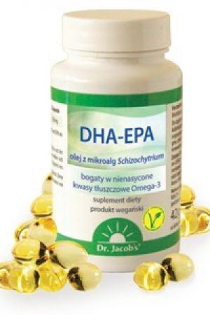 DHA-EPA kwasy Omega-3 z mikroalg Schizochytrium 60 kaps.