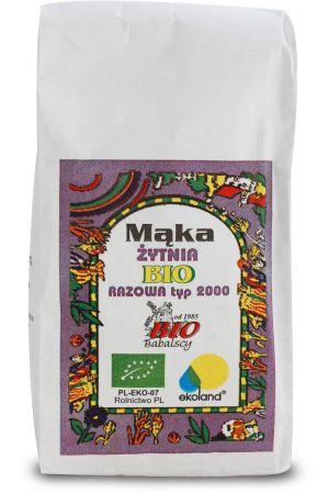 Polska mąka żytnia BIO razowa typ 2000 1 kg