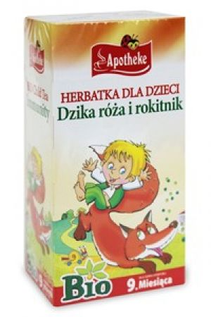 Dzika Róża i Rokitnik herbatka dla dzieci odporność Bio 20x1,5 g