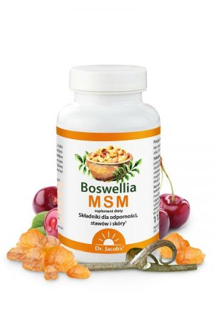Boswellia MSM suplement diety dla układu odpornościowego, stawów i jelit90 tabl.