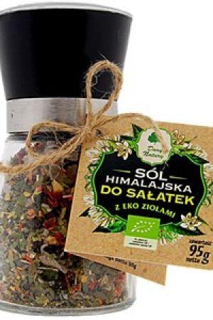 Sól himalajska z ziołami BIO do sałatek  w młynku 95 g